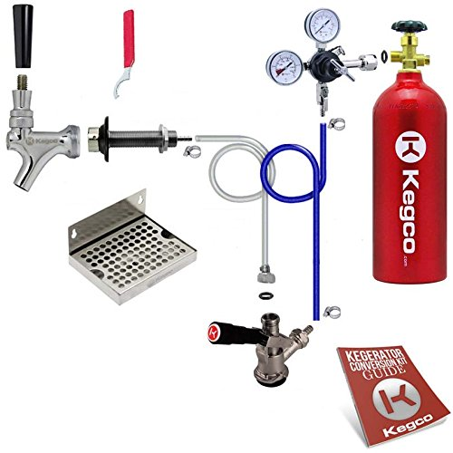 Kegco BF EBDCK-5T Deluxe Door Mount Kegerator Beer Conversion Kit with 5 lb Co2 Tank, Chrome