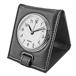 Natico Originals Desk Office/Travel Folding Alarm Clock, Black (10-1223B)