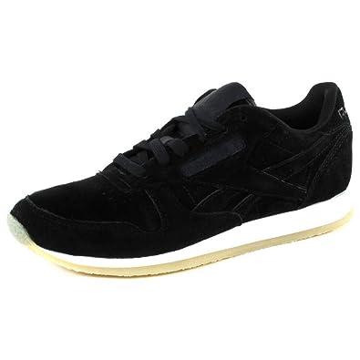 Reebok Classic Leather Crepe Trainers Black: Amazon.co.uk