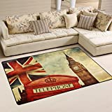 WOZO Vintage England Union Jack Area Rug Rugs Non-Slip Floor Mat Doormats Living Room Bedroom 60 x 39 inches Review