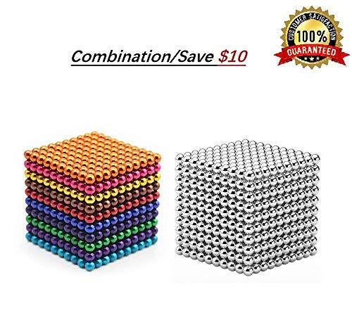 - Brain Teaser,5MM 1000-Pieces Combination Cube Toys,DIY Magic Sculpture Building Blocks Toy for Children Intelligence Learning & Office Toy for Stress Relief for Kids or Adults 03
