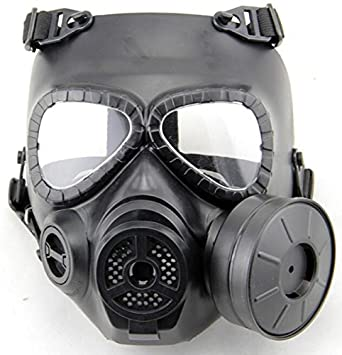 worldsho pping4u Dummy Anti-Fog Máscara de gas M04 W Turbo Fan Airsoft paintbal de equipo de protección negro: Amazon.es: Deportes y aire libre