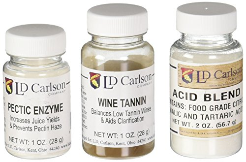 Wine Tannin 1 oz, Pectic Enzyme 1 oz, Acid Blend 2 oz Bundle