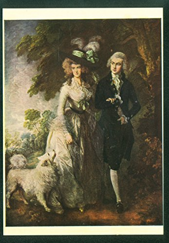 Morning Walk Oil Painting Thomas Gainsborough Picture Art Postcard (Gainsborough Oil)