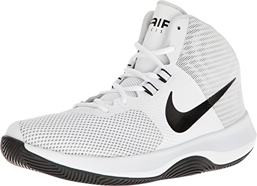 Nike Mens Air Precision Basketball Shoe, White/Black-Cool Grey-Pure Platinum 8