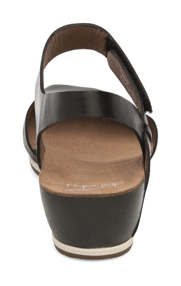 Dansko Women's Vera Flat Sandal, Black Burnished, 38 M EU (7.5-8 US) by Dansko (Image #2)