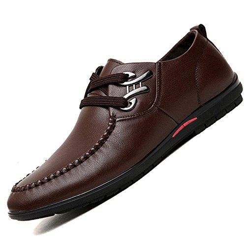 WKNBEU Hommes Printemps Été Marron Noir Bleu Mode Faible Haut Casual Casual Derby Chaussures Oxford Dentelle Business Chaussures Brown vgEsqe