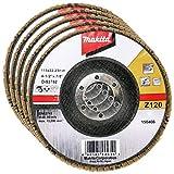 Makita 5 Pack - 120 Grit Flap Disc For Grinders