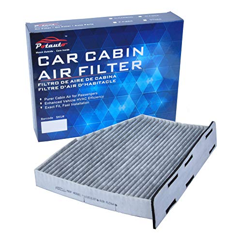 POTAUTO MAP 4002C (CF10373) Replacement Activated Carbon Car Cabin Air Filter for AUDI, A3, Q3, TT, VOLKSWAGEN, Beetle, CC, EOS, Golf, GTI, Jetta, Passat, R32, Rabbit, Tiguan