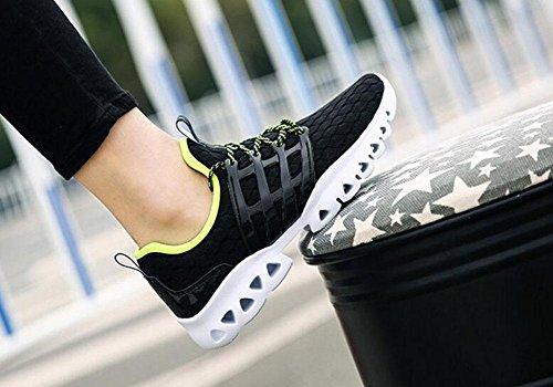 SHIXR Männer Frühlings-Paar-beiläufige Sport-Männer beschuht Art und Weise Breathable Ineinander greifen-Tuch-Füße beiläufige Schuhe laufende Schuhe Basketball-Schuhe , black , 39