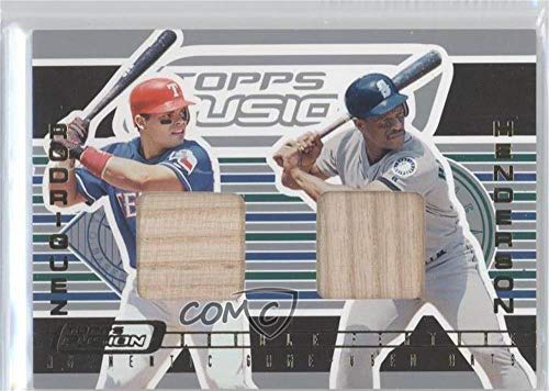 Ivan Rodriguez; Rickey Henderson (Baseball Card) 2001 Topps Fusion - Double Feature Relics #DF1