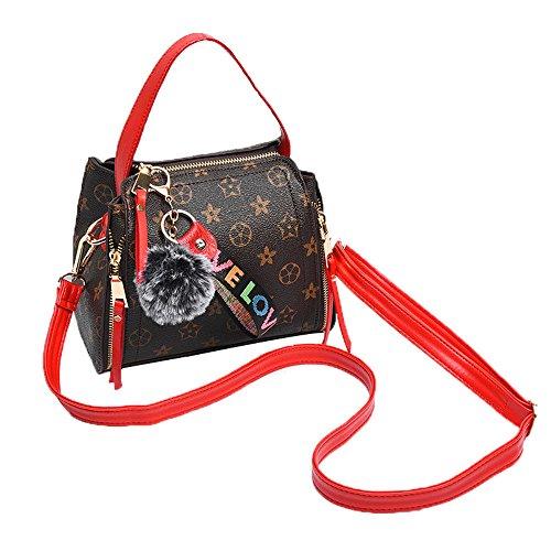 JUND - Bolso mochila para mujer Rojo rojo Rojo