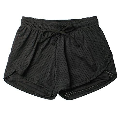 Di ECYC Da Da Atletico Donna Da Mesh Pantaloncini Yoga Nero A02 Abbigliamento Sportivo In L'Esecuzione Traspiranti Estivi Ladia Pantaloncini O05rOqw