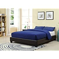 Modus Furniture 7G08F7 Ledge Upholstered Platform Bed, King, Chocolate