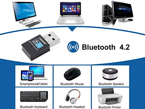 OSGEAR 150Mbps USB Bluetooth Adapter WiFi Network Card WLAN Wireless Dongle 2.4GHz band 802.11b/g/n Compatible with Win10 / Win8 / Win7 XP Vista Mac Linux for Laptop Desktop PC