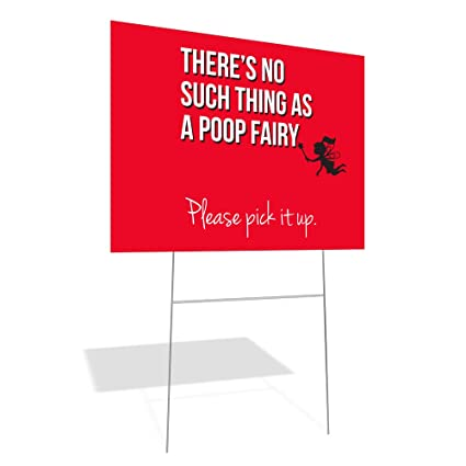 Amazoncom Bandit Yard Sign Poop Fairy Office Products