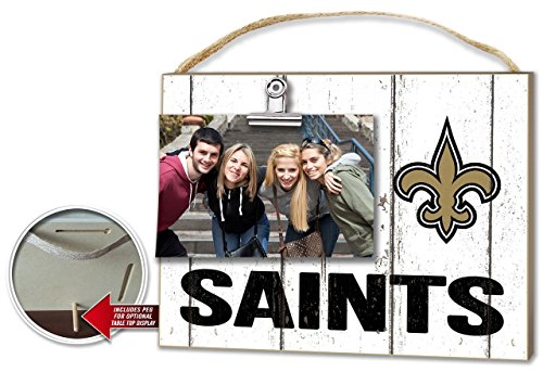 New Orleans Saints Weathered Clip-It Photo Frame