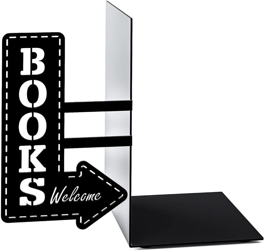 Balvi Bookshop metal bookend.