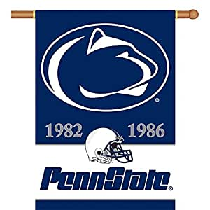 NCAA Penn State Nittany Lions Champ Years 2-Sided 28-by-40 inch House Banner with  Pole Sleeve