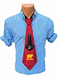Bev Tie The Original Beer Deer Bear Print - Hands Free Drink Holder - Beer Tie (Red)