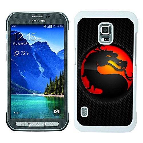 mortal kombat dragon background tongue circle White Samsung Galaxy S5 Active Shell Case,Luxury Cover