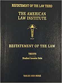 RESTATEMENT OF THE LAW TRUSTS 3d