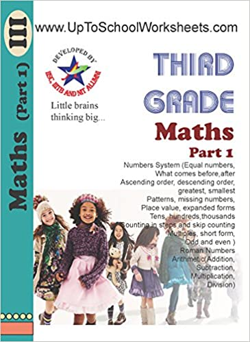 Class 3 Math Worksheets Part 1 Workbook Cbse Icse With Answer Key Amazon In Uptoschoolworksheets Books