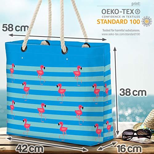 VOID Flamingo strand blå strandväska Shopper 58 x 38 x 16 cm 23 L XXL shoppingväska väska resväska Beach Bag
