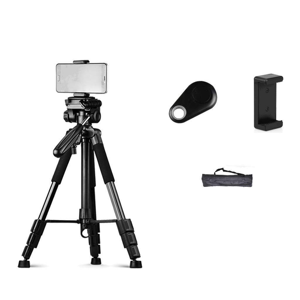 Fill Light Mobile Phone Live Stand Tripod Floor Type Multi-Function Beauty Self-Timer Photo Video Live Broadcast Equipment LCSHAN (Color : Black, Size : 170+26cm fill light) by Fill light