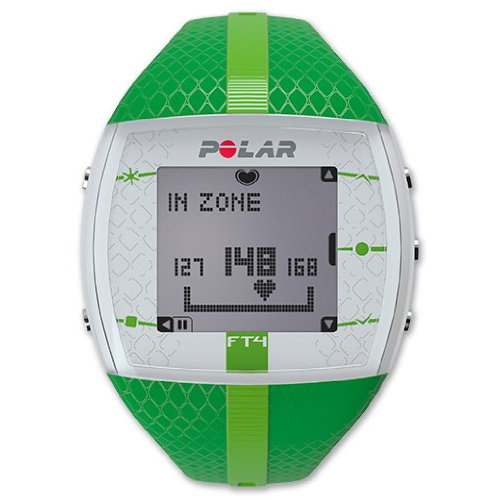 (POLAR FT4 Heart Rate Monitor Watch, Green)