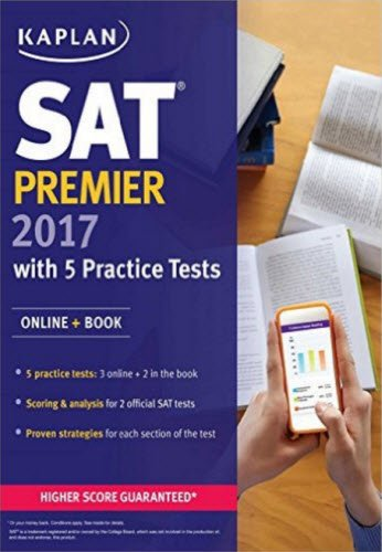 SAT Premier 2017 with 5 Practice Tests: Online + Book (Kaplan Test - Tempe Marketplace Shops