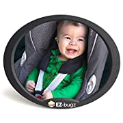 EZ-Bugz Baby Car Mirror for Rear Facing Child Seats, Big and Clear Rear View of Your Newborn Infant in the Back, Fits to Seat Headrest