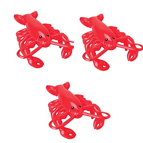 Endless Road 3 Pack 20 Inch Inflatable Red Lobster US Toy 290 (3 (Iii Inflatable)