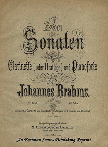 (Brahms : Sonata for Clarinet Op. 120)