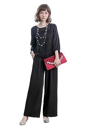 b032a578f827f パンツドレス パーティードレス パンツ セットアップ レディース パンツスーツ 大きいサイズ 袖あり パンツドレス 2