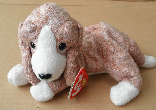 TY Beanie Babies Sniffer the Beagle Dog Stuffed Animal Plush Toy - 8 inches long - Light Brown and White