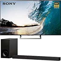 Sony XBR75X850E 75 4K HDR Triluminos UHD LCD Android TV with Google Home Compatibility 3840x2160 & Sony HTZ9F 3.1Ch 4K HDR Compatible Dolby Atmos Soundbar with Built-in WiFi & Bluetooth