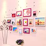 LANNA SHOP- Multi Picture Frame Set, Photo Frame, Wall Frame Set With 15 Frames, Large Photo Frame Wall Set, Covers 90cm X 210cm, Best Wall Decorations