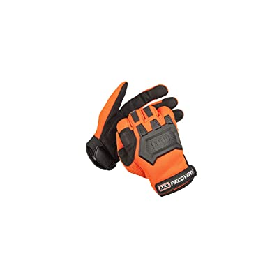 ARB Premium Recovery Winch Offroad Work Gloves Unisex, Cut and Impact Resistant, Hi-Vis Orange, All Purpose, Touch Screen Compatible, Adjustable Wrist Strap, Tactile Padded Palms, One Size Fits Most: Automotive