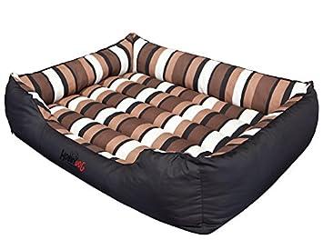 Hobbydog - Cama para Perro, Negro (Con Rayas), 3XL (140x115x25 cm): Amazon.es: Productos para mascotas