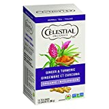 Celestial Seasonings Ginger & Turmeric Organic Herbal Tea, 26 Grams