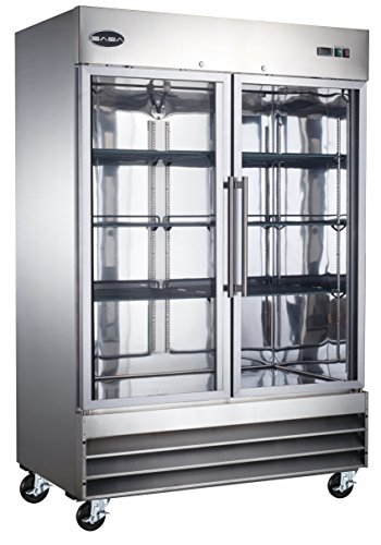 SABA Commercial Reach in Refrigerator, 2 Glass Doors