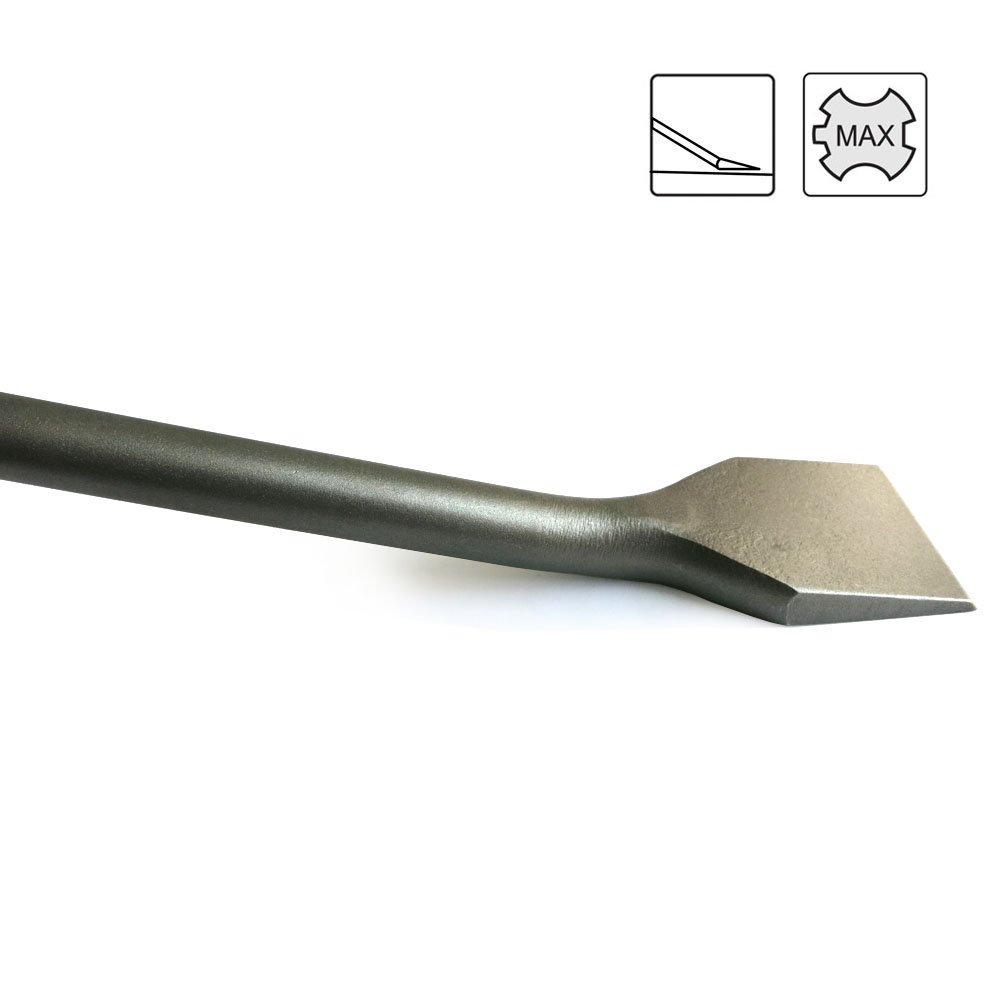 Cincel SDS MAX para baldosas 400 x 50 mm MADE IN GERMANY Calidad Profesional geometr/ía optimizada S/&R