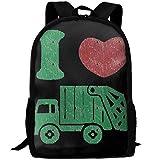 I Love Trash Garbage Trucks Argentina Flag Unique Outdoor Shoulders Bag Fabric Backpack Multipurpose Daypacks For Adult