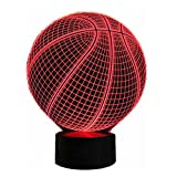 Unitake 3D Optical Illusion Night Light Instrument Version for Children Gift (Basketball) Review