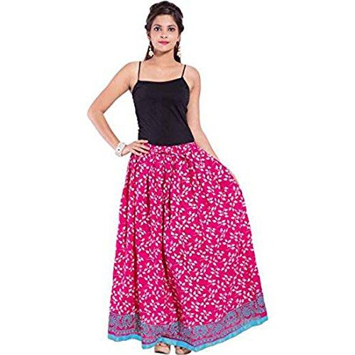 Indian Size free Women's Handicrfats pink Skirt Cotton Export 6f6qr