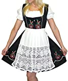 Dirndl Trachten Haus 3-Piece Short German Wear Party Oktoberfest Dress 8 38 Black