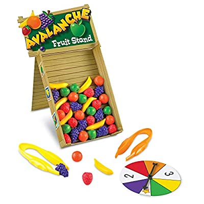 Learning Resources Avalanche Fruit Stand, Fine Motor/Grip Game, 42 Piece Set, Ages 3+: Toys & Games