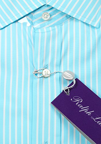 CL - Ralph Lauren Purple Label Turquoise Striped Tailored Fit Shirt Size 39 / 15.5 U.S.