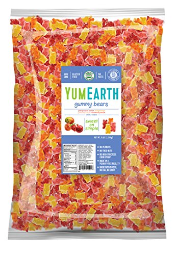 YumEarth Gummy Bears, Assorted Flavors, 5 Pound Bag ()
